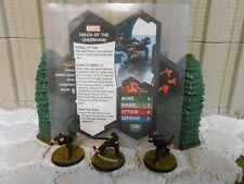 Heroscape Custom Ninja of the Underhand Dbl Sided Card & Figure w/ Sleeve Marvel