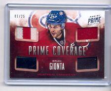 BRIAN GIONTA 2013-14 PANINI PRIME COVERAGE QUAD PATCH & STICK #1/25 CANADIENS