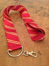 Universal Studio Wizarding World of Harry Potter Gryffindor Striped Tie Lanyard