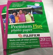 FujiFilm Inkjet Premium Plus Paper Glossy 8.5 x 11 40 Sheets Total Fast Ship F39