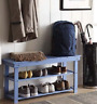 The Gray Barn Pitchfork MudRoom Entryway Foyer Shoe Storage Bench 2 Shelves NEW