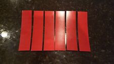 """3M 6 STRIPS 1.5"""" x 8"""" RED HI INTENSITY REFLECTIVE CONSPICUITY TAPE"""