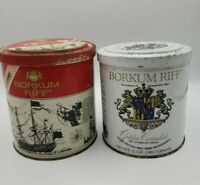 BORKUM RIFF Tobacco Tin 12 oz Lot Of 2 Vintage tins