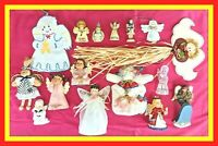 16 piece ANGEL COLLECTION true VINTAGE HANDMADE PORCELAIN FIGURINE LOT