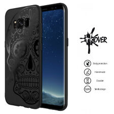 Custodia Cover Nera Black Matte INKOVER Tpu Morbida Slim Teschio Skull messicano