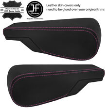 PINK STITCH 2X SEAT ARMREST REAL LEATHER COVERS FITS VW TYPE 3 T3 MULTIVAN