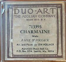 CHARMAINE DUO-ART RECUT REPRODUCING PIANO ROLL