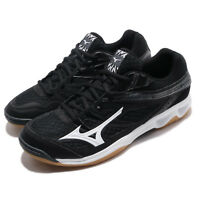 Mizuno Thunder Blade Black White Gum Men Badminton Volleyball Shoes V1GA1770-08