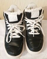 NIKE HIGH TOP BOYS TRAINERS SIZE UK 5, EUR 38.5, BLACK MIX CONDITION USED