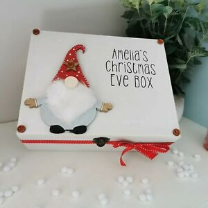 Personalised wooden christmas eve box, Gonk Christmas Decoration