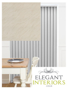 Sahara Cream PVC Patterned Blackout - Made To Measure Complete Vertical Blind