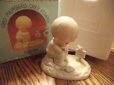 """Precious Moments """"In His Time"""" Pm-872 1987 In Original Box Cedar Tree Mark"""
