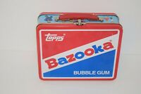 Vintage Bazooka Bubble Gum Topps Baseball Cards Metal Tin Lunch Box