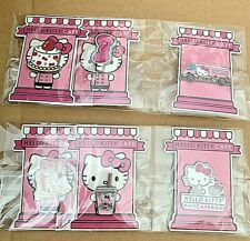 Hello Kitty Cafe Truck Exclusive 6 Piece Enamel Pin Set Sanrio- NEW w/ Sticker