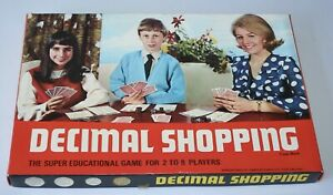VERY SCARCE 1971 DECIMAL SHOPPING EDUCATIONAL GAME - TURNER RESEARCH