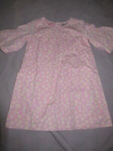 nwot Hanna Andersson pink daisy bell sleeve tunic dress girls 120 6 7 free ship