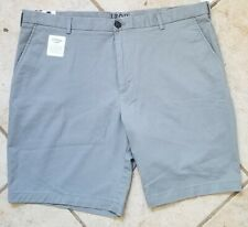 IZOD Saltwater Mens Relaxed Stretch Flat Front Shorts, Grey, Size 40