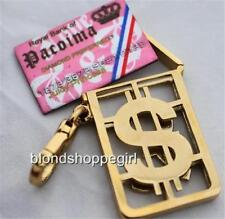 Juicy Couture PINK Princess CREDIT CARD CHARM GOLD Rare Opens Crystal NWT Jewel