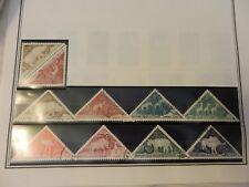 Lot of 10 Chad Animal Timber Tax Stamps, Rhino, Elephant, Flamingo