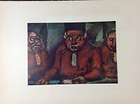 "1954 Vintage Full Color Art Plate ""THREE JUDGES"" by GEORGES ROUAULT Lithograph"