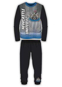 Boys Kids Newcastle Utd Football Pyjamas PJs Nightwear 4 to 12 Years Long Sleeve