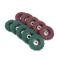 "2/5/10Pcs 4"" Nylon Fiber Polishing Wheel 180/320Grit F Angle Grinder Accessories"