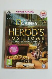 HEROD'S LOST TOMB Juego PC National Geographic. Version Francia NUEVO EN BLISTER