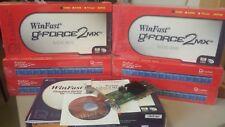 Leadtek 32MB AGP 4X Video card GeForce2mx MX400 Windows NT, 95, 98 2000, XP supp