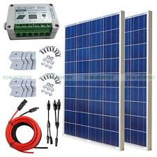 200Watts Complete Kit:2*100W Poly Solar Panel For 12Vcharge Battery+Controller