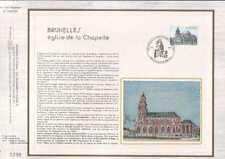 Feuillet CEF Belgique n°390 Bruxelles église de la Chapelle cachet 25-6-84 Brux.
