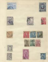 PORTUGAL and COLONIES Stamps on 3 Album Pages FUNCHAL VERDE ANGOLA AZORES INDIA