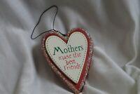 Kurt S Adler Inc Marcey Saeger Christmas Ornament Mothers Metal Red White Heart