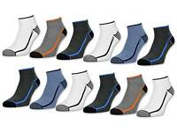 6 oder 12 Paar Sport Sneaker Socken Herrensocken mit Frotteesohle verstärkt NEU