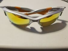 Oakley Sunglasses Half Jacket 2.0 Silver & Orange Fire Iridium lenses OO9144-02