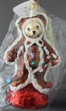 Christopher Radko Ginger Bear 1998 Muffy VanderBear Ornament 98-NAB-02 Teddy