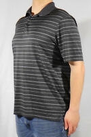 Champion Golf Short Sleeve Gray w/Stripes Polo Shirt - Three Button - Size LARGE