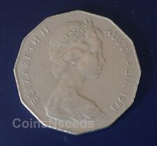 1973 ,  50c Coat Of Arms Australian 50 Cent Coin Queen Elizabeth II , Circulated