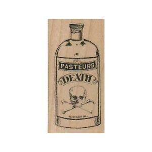 Pasteurs Death Potion RUBBER STAMP, Poison Stamp, Potion, Apothecary, Halloween