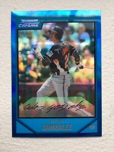 Carlos Gonzalez 2007 Bowman Chrome Draft Picks & Prospects Blue Refractor /199
