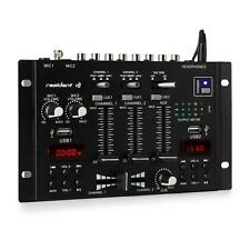 DJ PA Mixer 3/2 Kanal Mischpult Bluetooth USB MP3 Player HiFi Stereo Display