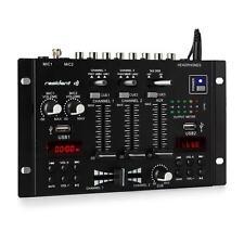 DJ PA Mixer 3/2 Kanal Mischpult Bluetooth USB MP3 Player HiFi Stereo Display