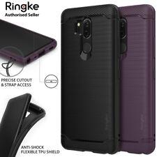 LG G7 ThinQ Case Genuine Ringke Onyx Flexible Brushed Metal Anti-Shock Cover