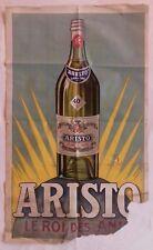 Ancienne affiche publicitaire Anis ARISTO à St Galmier (Loire) apéritif Ravel 42