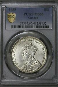 Canada 1935 Silver Dollar PCGS MS 65   S465