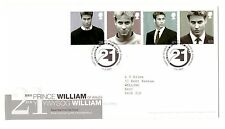 GREAT BRITAIN 2003 21ST BIRTHDAY PRINCE WILLIAM SET OF 4 ON FIRST DAY COVER