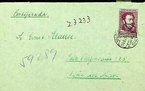 CHILE 1943 WWII 90c ON COVER FROM VALPARAISO TO VINA DEL MAR