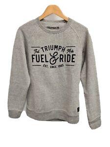 Men's Triumph Dermot Sweatshirt Jumper Grey Medium