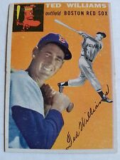 1954 Topps #1 Ted Williams : Boston Red Sox