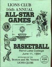High School Basketball Program Illinois 1994 Tournament Lions Clubs
