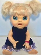 Hasbro Baby Alive Doll REAL SURPRISES 2012 Blonde Moves Talks English Spanish